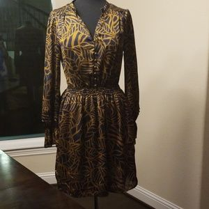 Silk Mini Long Sleeved Dress